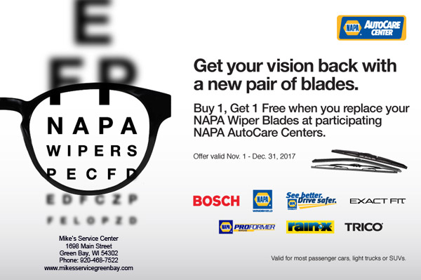 Wiper Blades Buy 1, Get 1 Free