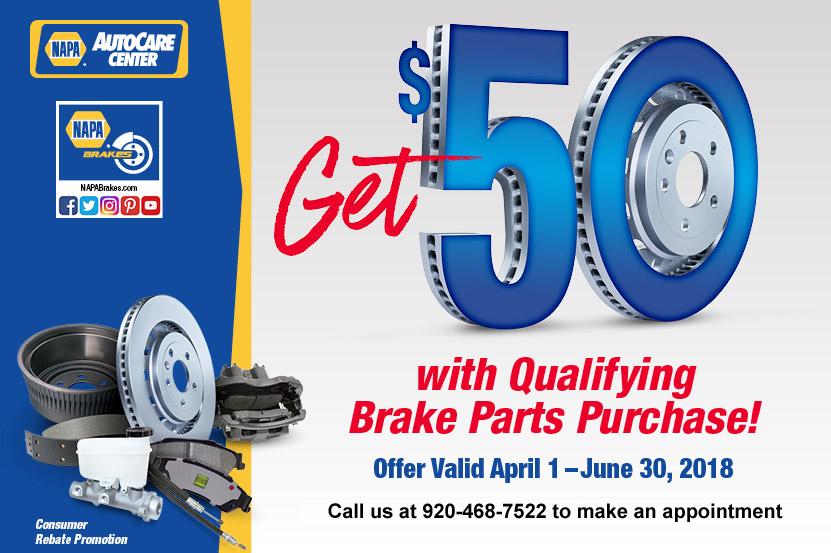 Brake Parts Promotion 2018