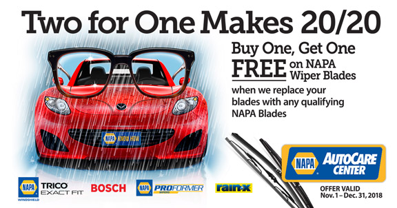 NAPA Wiper Blade Promotion