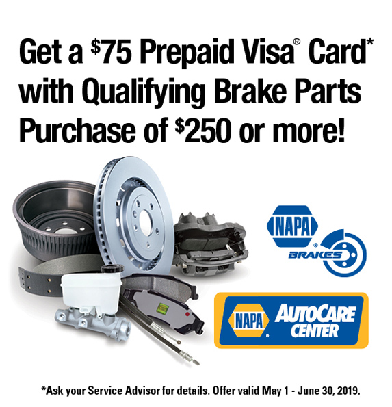 May-June 2019 Brakes Rebate Offer